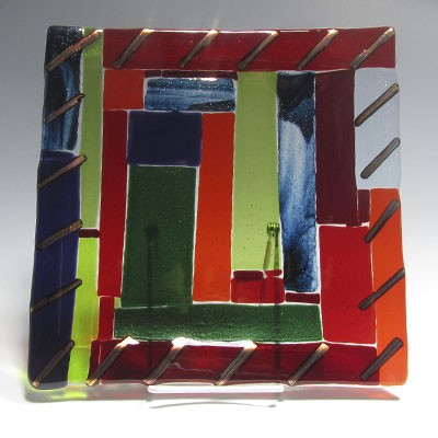 Fused Glass platter 105