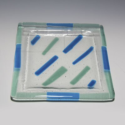 Fused Glass platter 107