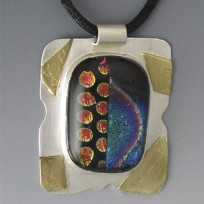 Pendant with Dichroic glass
